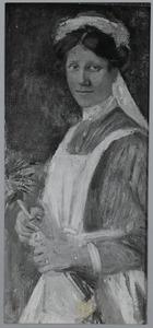 Portret van een dienstmeid