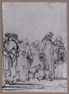 Christus met zijn leerlingen en / of Farizeeërs
