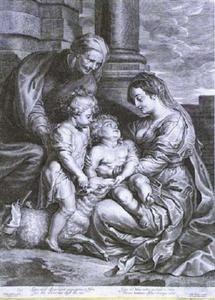 De Maagd Maria met kind, St. Elizabeth en Johannes de Doper