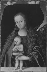 Maria met Christuskind en appel