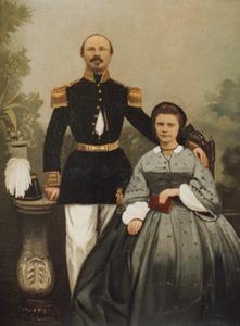 Dubbelportret van Arnoldus Struiken (1818-1895) en Johanna Wilhelmina Marie Wanders (1845-1915)