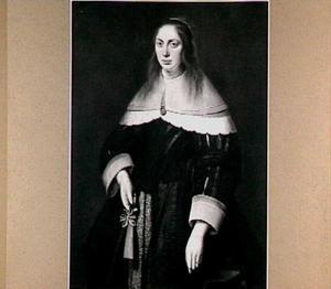 Portret van Rintkje van Eysinga (1622-1652), echtgenote van Gemme van Burmania