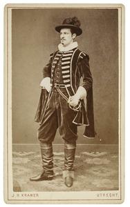 Portret van Adriaan de Haan (1861-1933) als Hollandsche ruiter