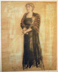 Voorstudie voor portret van Jo Vincent