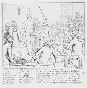 Identificatie van de portretten op het schilderij 'Professor Andreas Bonn (1738-1817) opent de tekenzaal van Felix Meritis'