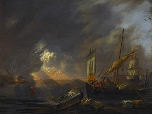 Mediterraan kustlandschap bij zonsopgang