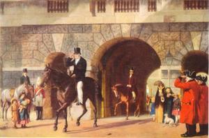 Zijn laatste rit van het werk naar huis (de Hertog van Wellington 1769-1852)