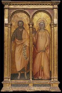 De HH. Johannes de Doper en Catharina van Alexandrië