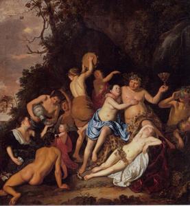 Bacchanaal: Bacchus en zijn volgelkingen tijdens een drinkgelag