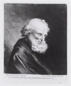 Een oude man met een witte baard