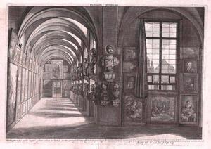 Gezicht op een deel van de Stallburg-Galerie van aartshertog Leopold Willem van Oostenrijk