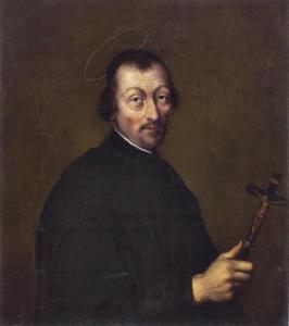 Portrtet van een man genaamd Franciscus Mijleman (1610-1667)