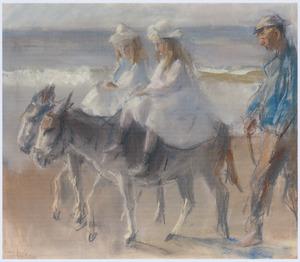Ezeltje rijden op het strand van Scheveningen