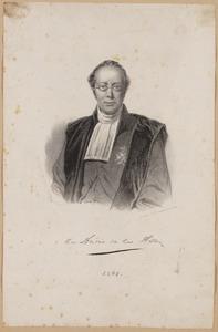 Portret van Abraham des Amorie van der Hoeven (1798-1855)