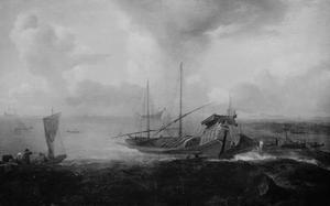 Marine met een venetiaanse Bucintoro