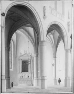 Gezicht op een kapel in de noordelijke zijbeuk van de Grote of St.-Laurenskerk te Alkmaar