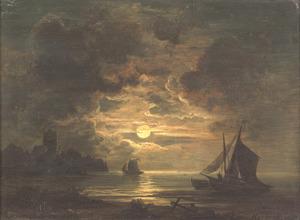 Zeekust bij nacht
