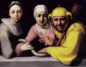 Een nar met twee vrouwen