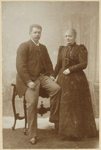 Portret van Johannes Hendrik Willem van den Bosch (1866-1923) en Dorothea Wilhelmina Beukman van der Wijck (1841-1917)