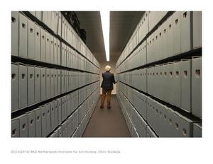 Directeur Chris Stolwijk in het RKD-Nederlands Instituut voor Kunstgeschiedenis
