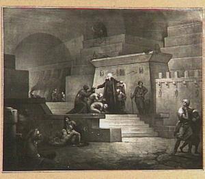 John Howard in een Egyptische gevangenis, brood uitdelende
