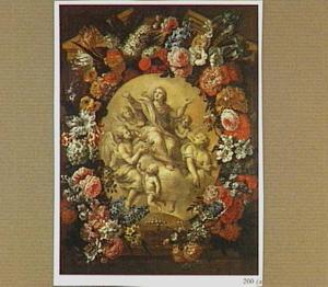 Tenhemelopneming van Maria omringd door bloemen