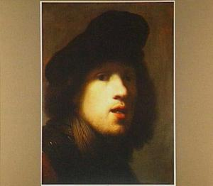 'Zelfportret met halsberg en baret'