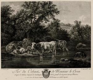 Landschap met herder en kudde