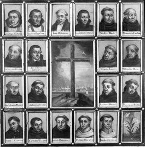 Portretten van de negentien martelaren van Gorcum, rond de kruisberg
