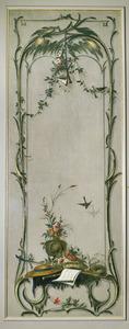 Rocaille-ornamenten met verwijzing naar de lente