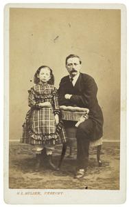 Portret van Jacob Hennequin (1835-1871) en Dina Frederika Hennequin (1862-1885)