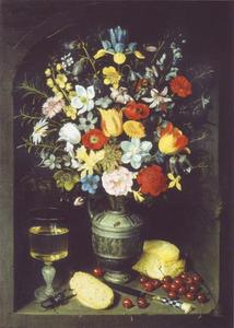 Bloemen in een nis