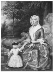 Portret van Maria Mauritia le Leu de Wilhem (?-1799) en Catharina Cornelia van Zanen (1749-1777)