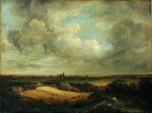 Weids landschap met korenvelden en uitzicht op Arnhem