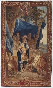 Koning Priamus vraagt Achilles het lchaam van zijn zoon Hector