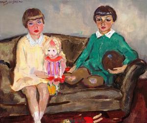 Portret van de kinderen Ten Cate