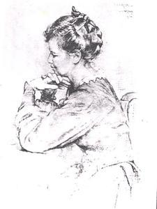 Portret van Maria Rueter (1902-1999)