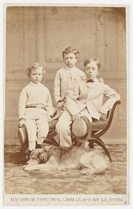 Portret van Egbert Willem Justinus Six (1867-1847), Regnerus Hendrik Sjuck Gerrold Six (1866-1929) en Henri Guillaume Six (1863-1934)