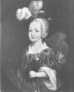 Portret van Anna von Steinberg-Almstedt als Diana
