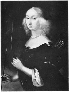 Portret van Maria Eleonora (1599-1655), vrouw van koning Gustaaf Adolf van Zweden (1594-1632), als Diana