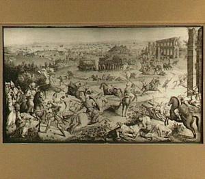 Gevecht tussen Arabieren en het leger van Karel V