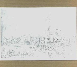 Parijs, de Pont-Neuf met de Nesle-toren, de Place Dauphine en de Notre Dame