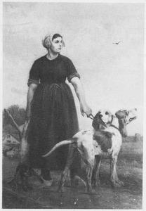 Dordtse boerin met haar honden
