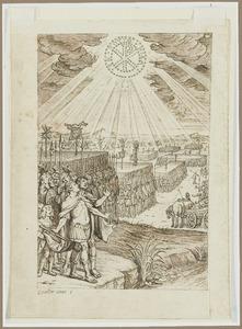 Het visioen van keizer Constantijn de Grote bij de Pons Milvius