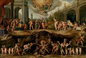 Het eeuwige dilemma van de mensheid, de keuze tussen deugd en ondeugd