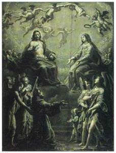 De H. Franciscus van Assisi ziet de Maagd in een vizioen als de koningin der hemelen