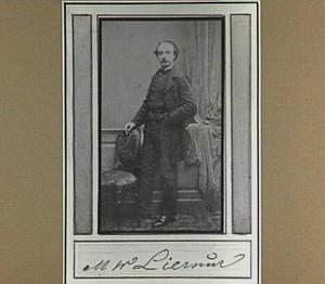 Portret van de kunstenaar Martinus Wilhelmus Liernur
