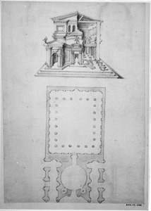 Gefantaseerde klassieke tempel