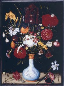 Bloemen in een Wan Li-vaas