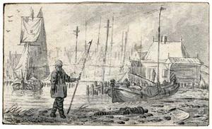 De haven van Amsterdam (?)